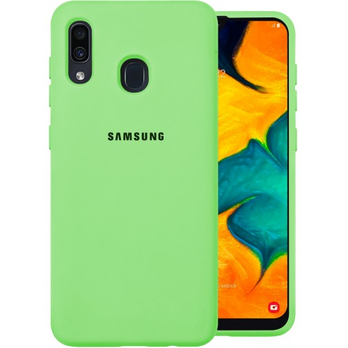 Силиконовый чехол Original Case (HQ) Samsung Galaxy A20 / A30 (2019) (Зелёный)