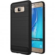 Силиконовый чехол Polished Carbon Samsung Galaxy J5 (2016) J510 (Чёрный)