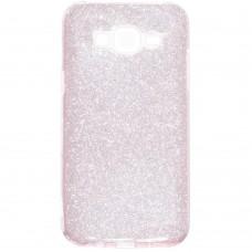 Силиконовый чехол Glitter Samsung Galaxy J2 (2016) J200 (розовый)