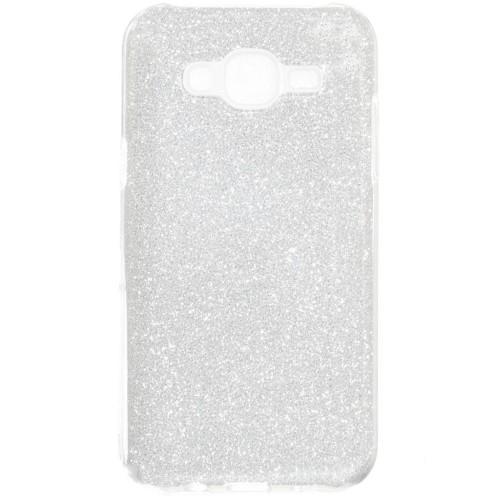 Силиконовый чехол Glitter Samsung Galaxy J2 (2016) J200 (серебрянный)