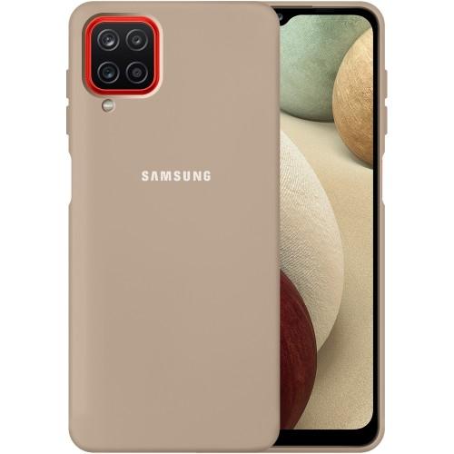 Силикон Original 360 Case Logo Samsung Galaxy A12 (2020) (Пудровый)