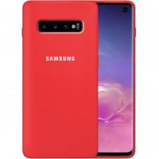 Силиконовый чехол Original Case Samsung Galaxy S10 (Красный)