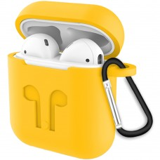 Футляр для наушников Apple AirPods Full Silicone Case (13) Yellow