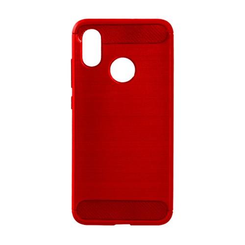 Силикон Polished Carbon Xiaomi Redmi Note 5 / Note 5 Pro (Красный)