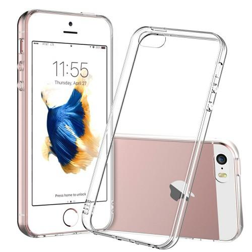 Силикон QU Case Apple iPhone 5 / 5s / SE (Прозрачный)