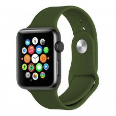 Ремешок Apple Watch Silicone 42 / 44mm (03) Dark Olive
