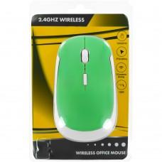 Мышь беспроводная Wireless Mouse JM3500 (Зелёно-белый)