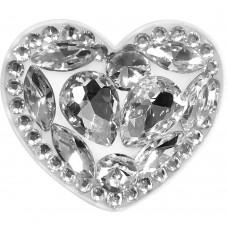 Холдер Popsocket Diamond Heart (Серебрянный)