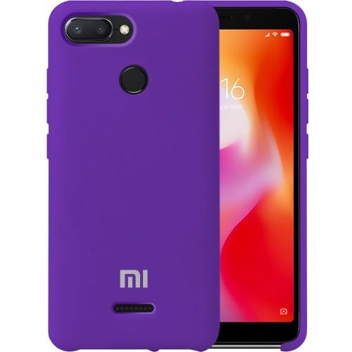 Силикон Original Case Xiaomi Redmi 6 (Фиолетовый)