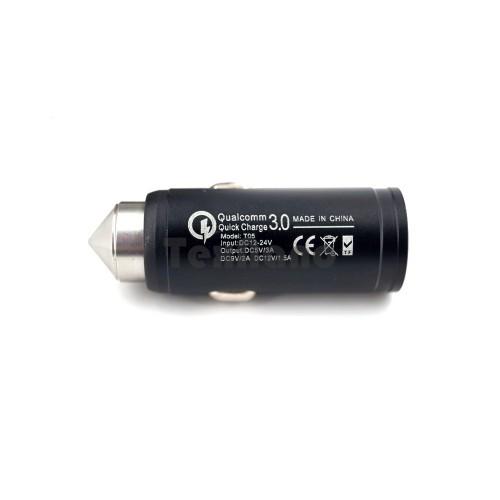 АЗУ Qualcomm 3.0 (T05) 1 USB (3A) (черный)