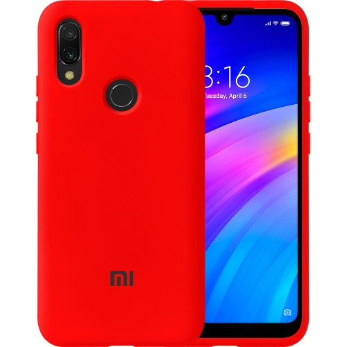 Силиконовый чехол Original Case Xiaomi Redmi 7 (Красный)