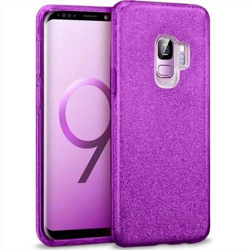Силикон Glitter Samsung Galaxy S9 (Фиолетовый)