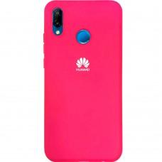 Силиконовый чехол Original Case Huawei P20 Lite (Малиновый)