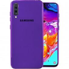 Накладка Glass Case Samsung Galaxy A70 (Фиолетовый)