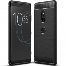 Силикон Polished Carbon Sony XZ 3 (Чёрный)