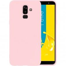 Силиконовый чехол iNavi Color Samsung Galaxy J8 (2018) J810 (персик)