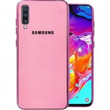 Накладка Glass Case Samsung Galaxy A70 (Розовый)