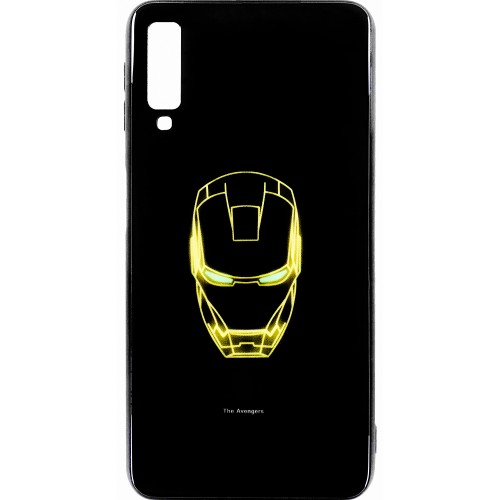 Накладка Luminous Glass Case Samsung A7 (2018) A750 (Ironman)