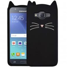 Силикон Kitty Case Samsung Galaxy J5 (2015) J500 (Черный)