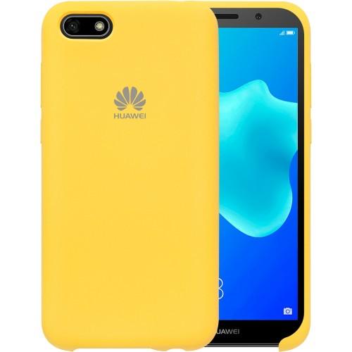 Силиконовый чехол Original Case Huawei Y5 Prime (2018) / Honor 7A (Жёлтый)