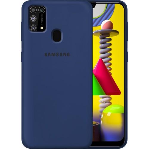 Силикон Original Case Samsung Galaxy M31 (2020) (Тёмно-синий)