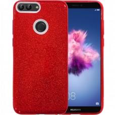 Силикон Glitter Huawei P Smart (красный)