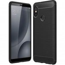 Силиконовый чехол Polished Carbon Xiaomi Redmi Note 5 / Note 5 Pro (Черный)