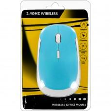 Мышь беспроводная Wireless Mouse JM3500 (Голубо-белый)