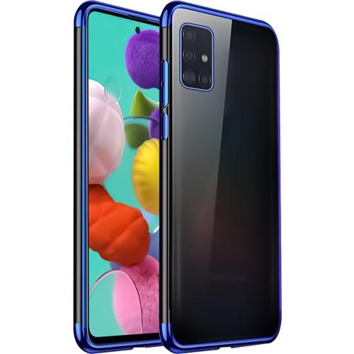 Силикон UMKU Line Samsung Galaxy A51 (2020) (Синий)