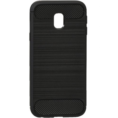 Силикон Polished Carbon Samsung Galaxy J3 (2017) J330 (Чёрный)