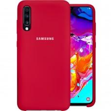 Силикон Original Case Samsung Galaxy A70 (2019) (Малиновый)