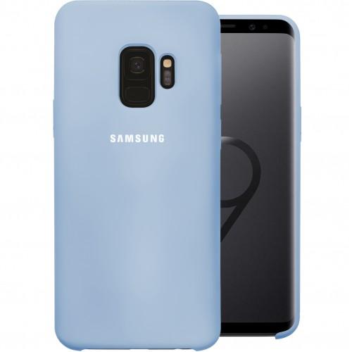 Силикон Original Round Case Logo Samsung Galaxy S9 (Голубой)