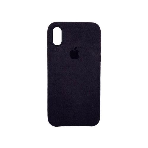 Чехол Alcantara Cover Apple iPhone X / XS (черный)
