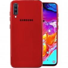 Накладка Glass Case Samsung Galaxy A70 (Красный)