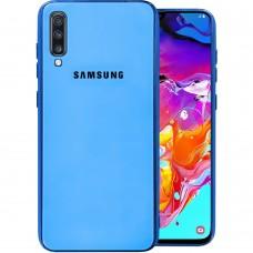 Накладка Glass Case Samsung Galaxy A70 (Голубой)