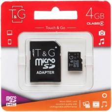 Карта памяти Touch & Go MicroSDHC 4Gb + SD Adapter