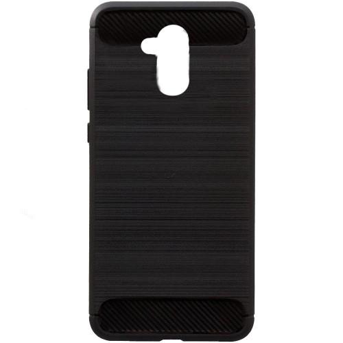Силиконовый чехол Polished Carbon Huawei Honor 6a (черный)