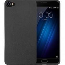 Силиконовый чехол Textile Meizu U10 (Чёрный)