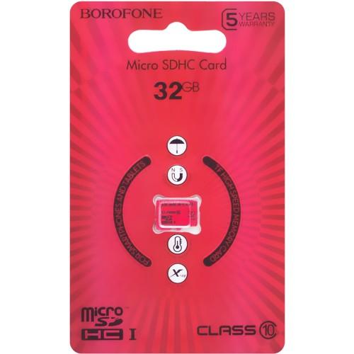 Карта памяти Borofone MicroSDHC 32Gb (Class 10)