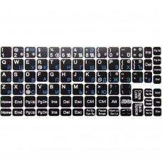 Наклейки на клавиатуру с русским алфавитом (Тип №2) (черно-синий)