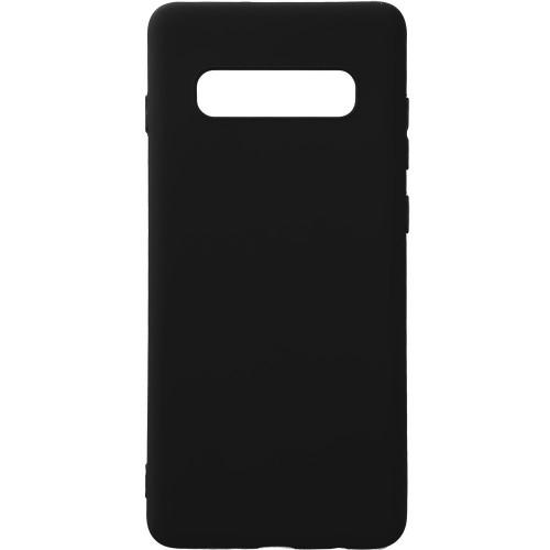 Силиконовый чехол iNavi Color Samsung Galaxy S10 (Черный)