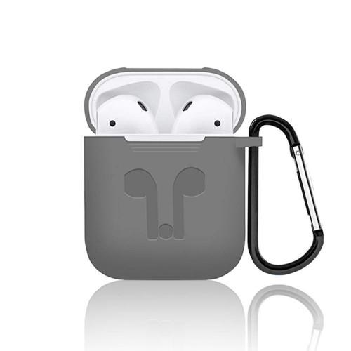 Футляр для наушников Apple AirPods Full Silicone Case (серый)
