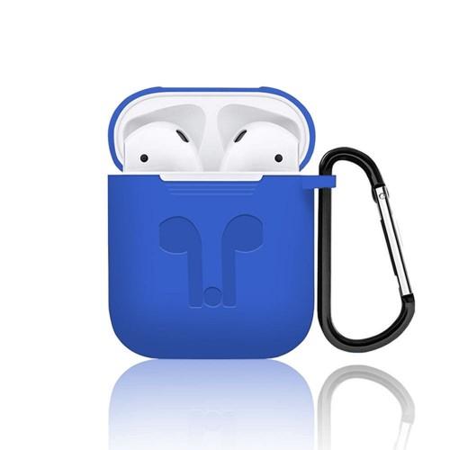 Футляр для наушников Apple AirPods Full Silicone Case (синий)