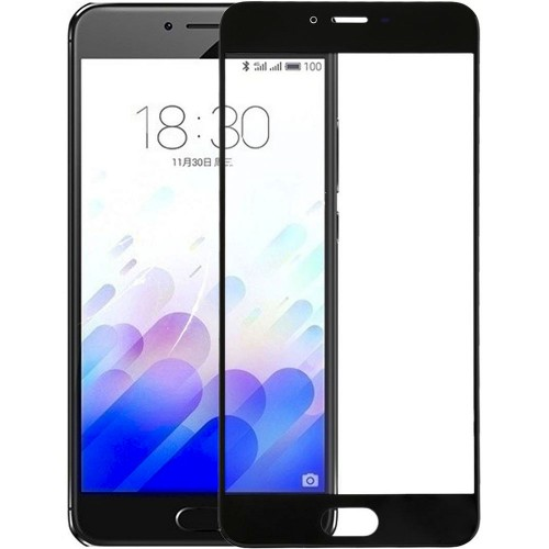 Стекло Meizu M3S / M3 Mini Black