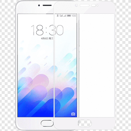 Стекло 3D Meizu M3S / M3 Mini White
