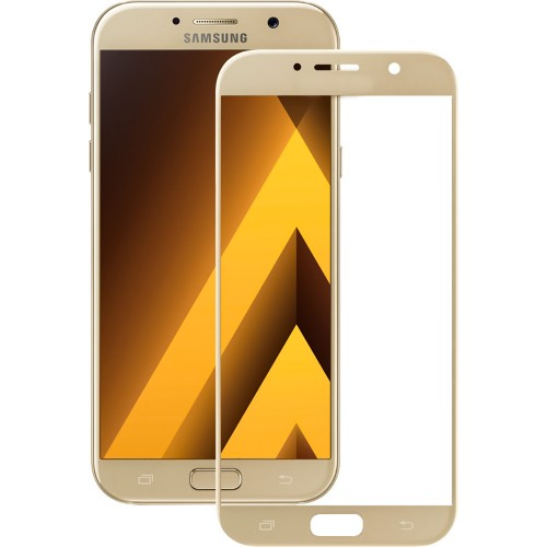 Стекло 3D Samsung Galaxy A7 (2017) A720 Gold