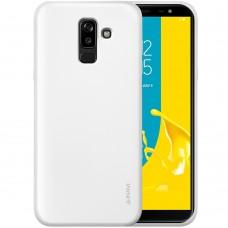Силикон iNavi Color Samsung Galaxy J8 (2018) J810 (Белый матовый)