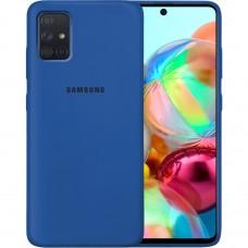 Силикон Original Case Samsung Galaxy A71 (2020) (Кобальт)