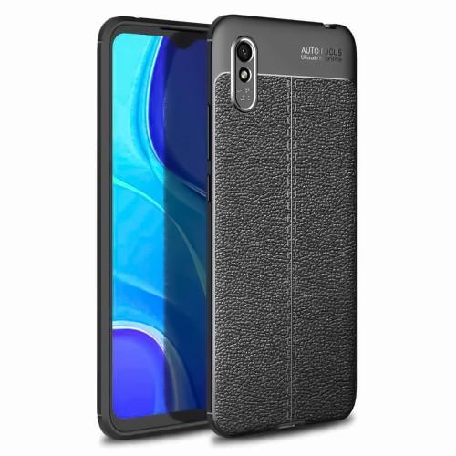 Силикон Leather Case Xiaomi Redmi 9A (Чёрный)