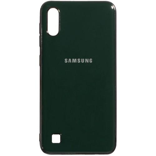 Силиконовый чехол Zefir Case Samsung Galaxy A10 (2019) (Темно-зелёный)